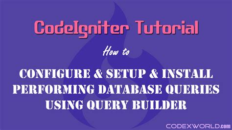 codeigniter tutorial for beginners step by step video codeigniter tutorial for beginners codexworld