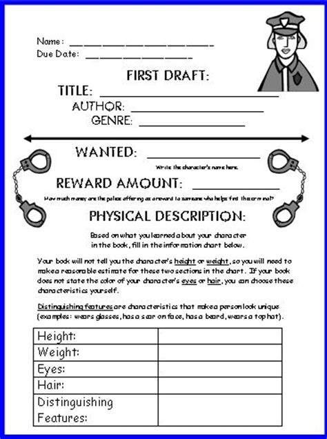 mystery book report template wanted poster book report projects templates printable