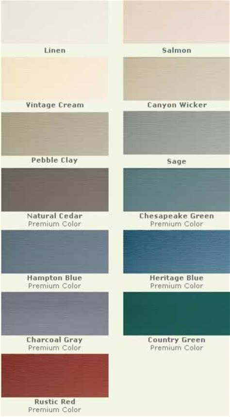 colors of vinyl siding vinyl siding colors color choices and shades