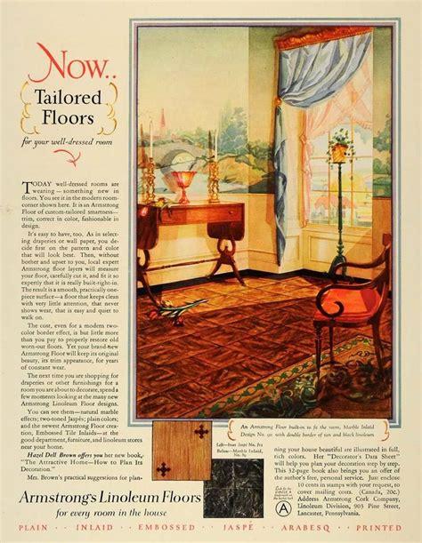 1928 ad armstrongs cork linoleum floor interior design original ghb1 ebay 1800 s 1940 s