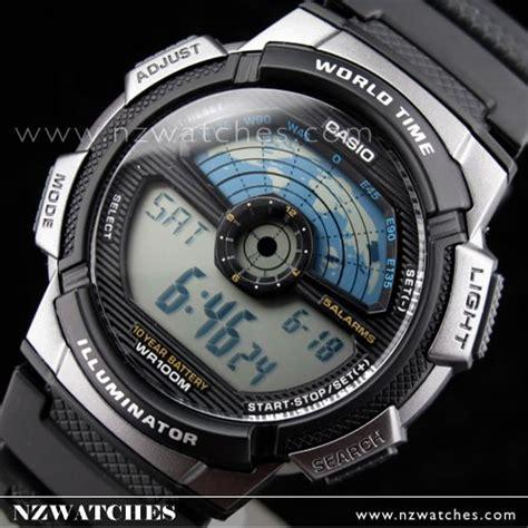Top Jam Tangan Casio Ae 2100w 1a Digital Original Hobi Outdoor Advent buy casio s world time alarm digital sports ae 1100w 1a ae1100w buy watches
