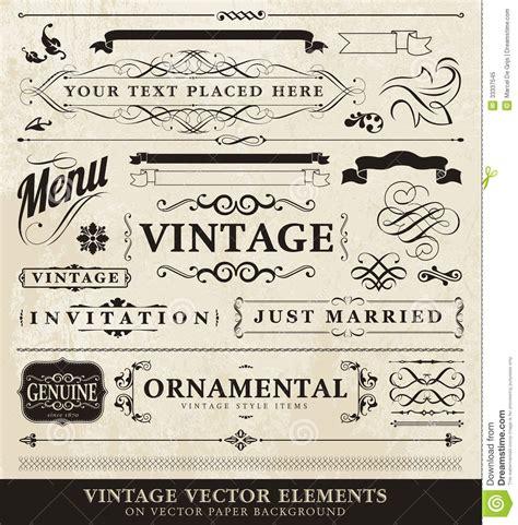 vintage menu design elements vector vector vintage style elements royalty free stock photo