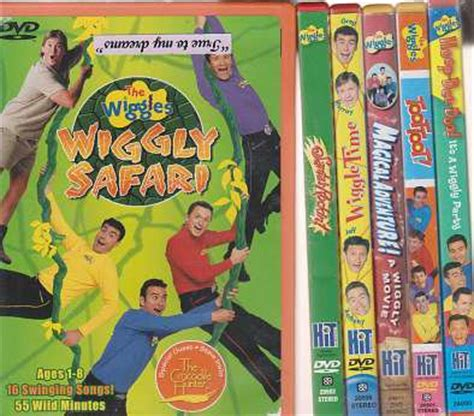 wiggles waves free form books the wiggles dvd lot of six 6