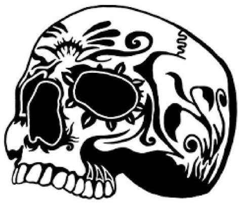 skull vinyl decal sticker truck car laptop window designs