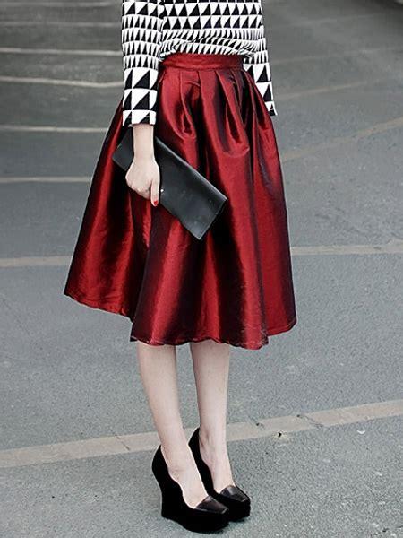 Diskon Midi Flare A Line Skirt flare pleated midi skirt