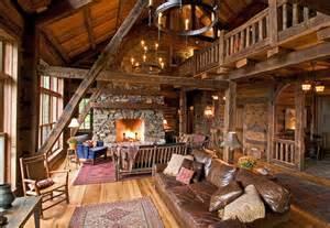 Woman lake rustic living room minneapolis by big