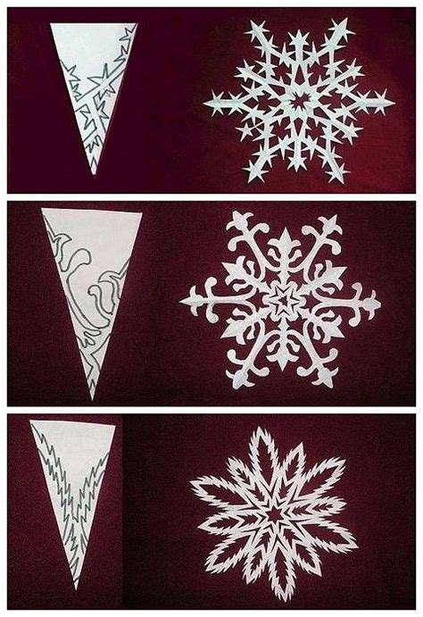Snowflake Paper Folding - the origami diy snowflake paper cutting diy