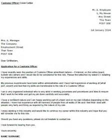 Custom Cover Letter by Customs Officer Cover Letter Exle Icover Org Uk