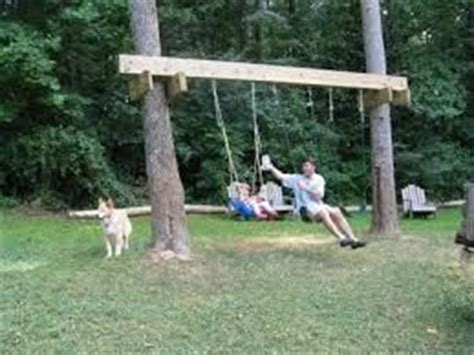 hanging a swing between two trees pinterest the world s catalog of ideas