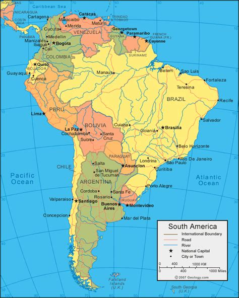 america map mountains and river map of south america with rivers and mountains