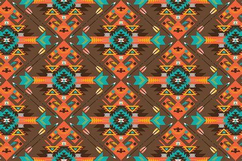 seamless aztec pattern seamless colorful aztec pattern patterns on creative market