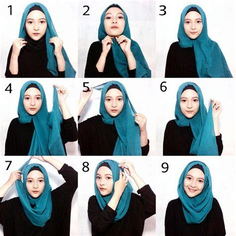 tutorial hijab segi empat kombinasi tutorial hijab paris segi empat untuk paduan busana muslim