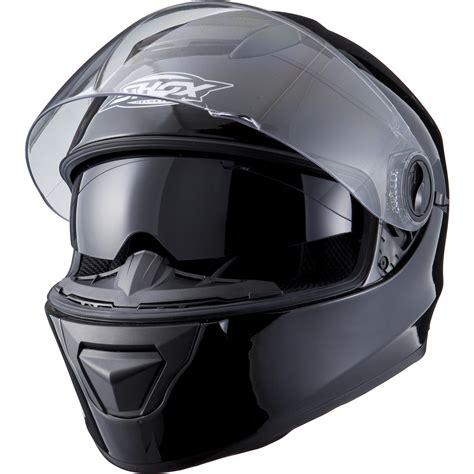 Schwarzer Motorradhelm by Shox Assault Solid Black Motorcycle Helmet Motorbike