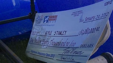 open check kyle stanley farmers insurance open check larry brown sports