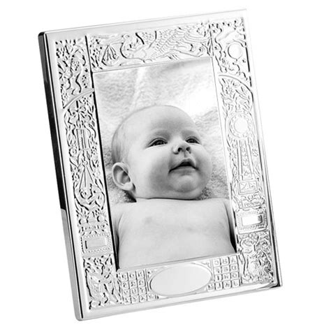Birth Record Frame Engravable Empire Sterling Silver Birth Record Frame 4 X 6