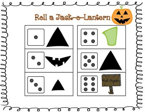 Roll A Jack O Lantern Printable | sprinkles to kindergarten roll a jack o lantern freebie