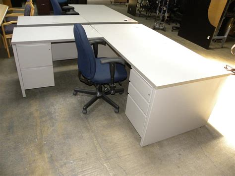 herman miller l shaped desk herman miller l shaped double locking pedestal desk with