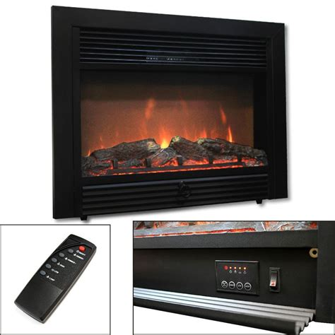 Electric Fireplace Heater 28 5 Quot Electric Fireplace Embedded Heater Insert Log Wood 1500w W Remote Ebay