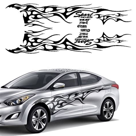 Auto Body Decals by Car Auto Vinyl Car Side Body Graphics Fire Flame Decal