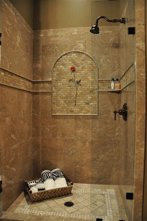 all tile bathroom marble shower rose mural tropical bathroom seattle