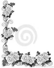 black and design black and white roses border design royalty free stock images image 4492009