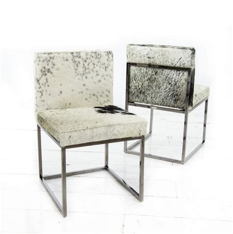 modern cowhide dining chairs sleek cowhide dining chair modshop