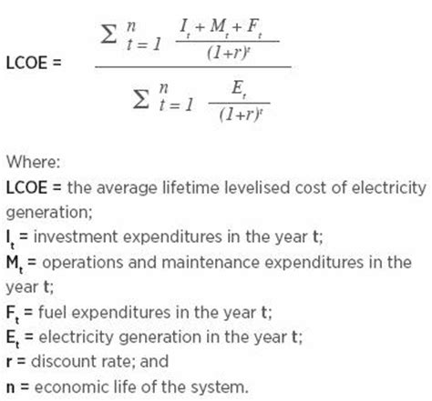 electricity cost formula cost of energy analysis with wind turbines