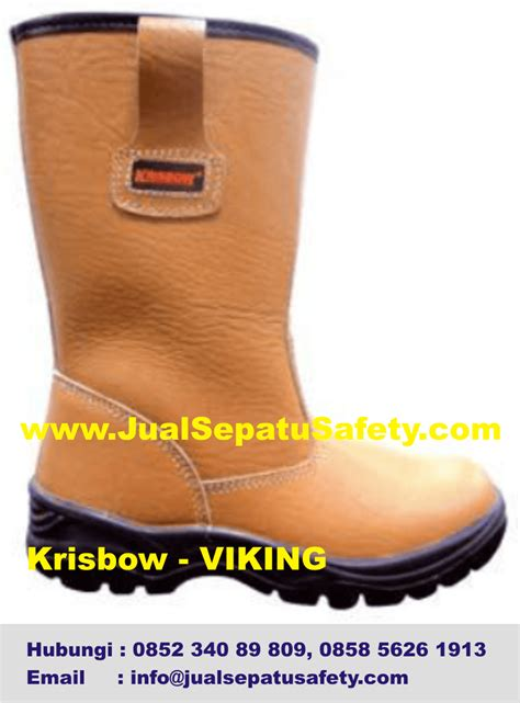 Sepatu Boot Kuning safety boot krisbow viking hp 0852 340 89 809