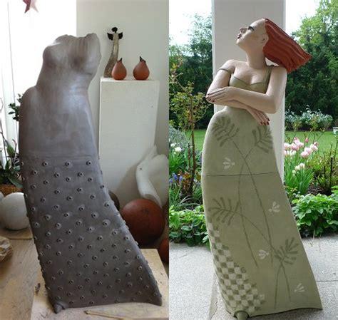 Tonfiguren Selber Machen by Gro 223 E Tonfiguren F 252 R Den Garten Keramik Kunst