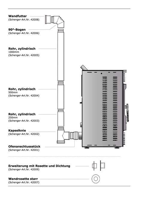 Gastherme Abgasrohr Vorschriften by Rauchrohr Ofenrohr Pelletofen Anschluss Kaminrohr