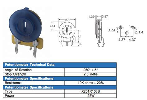 trimpot resistor datasheet trimpot resistor datasheet 28 images 10k ω ohm potentiometer horizontal trimpot trimmer