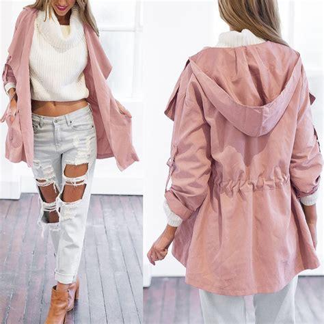 Outwear Wanita Fashionable Clarissa Black Cardigan S Fashion Warm Hooded Coat Jacket Trench