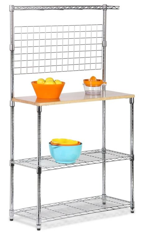 Honey Can Do Bakers Rack by 5 Best Bakers Rack With Wood Top Organize Your Kitchen In A Convenient Way Tool Box