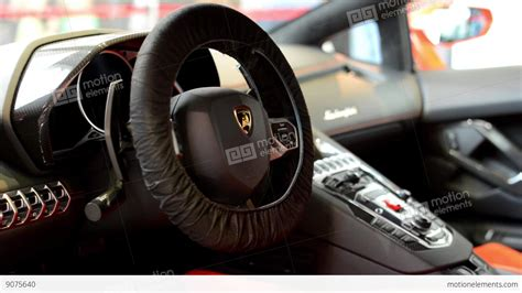 Lamborghini Aventador Gear Shift Dashboard And Wheel Gear Shift Lever Logo