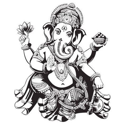 Ganesha Tattoo Black And White   pinterest the world s catalog of ideas