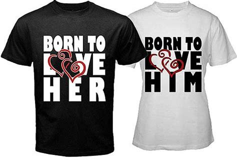 Customized Matching T Shirts For Couples Valentines Day Custom T Shirts One Hour Teesonehourtees
