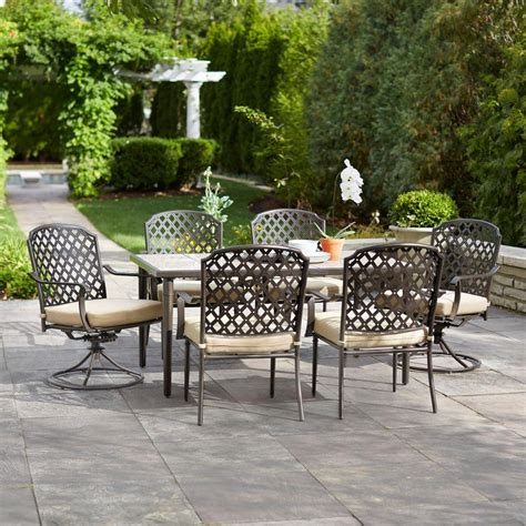 hton bay marysville 7 piece patio dining set for 399
