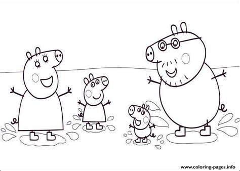 peppa pig coloring pages printable pdf happiness family peppa pig coloring pages printable