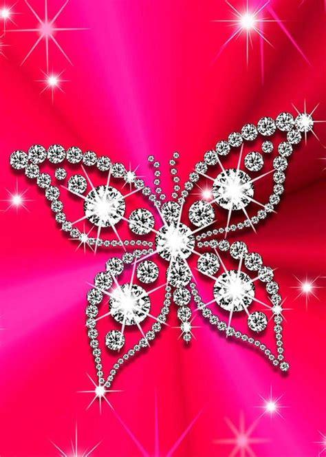 wallpapers of glitter butterflies butterfly bling bling hello kitty ipod iphone