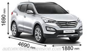 Hyundai Santa Fe Width Dimensions Of Hyundai Cars Showing Length Width And Height