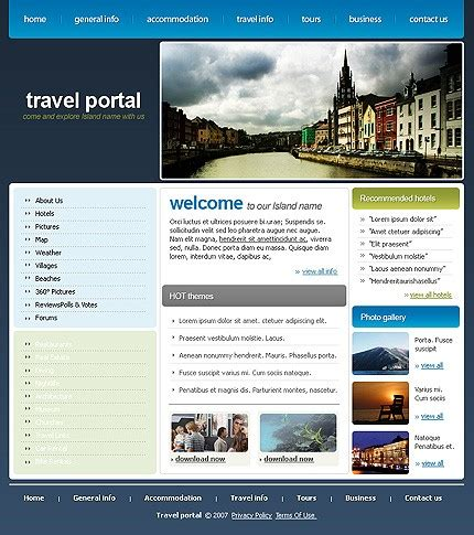 travel portal templates template 14455