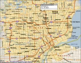 detroit map of us delphi diesel aftermarket and detroit area