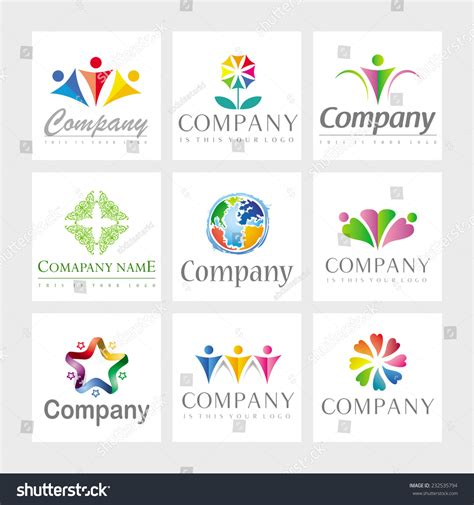 game design elements in vector from stock 9 25xeps set 9 vector elements logo design stock vector 232535794