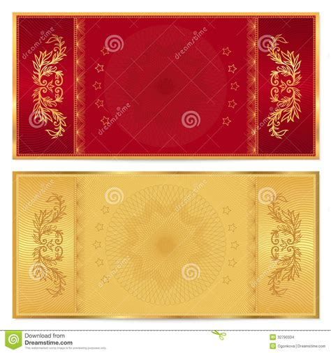 gold ticket template gold ticket voucher gift certificate coupon stock