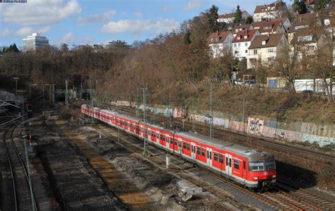 innerer nordbahnhof stuttgart 420 448 3 und 420 403 8 als s5 nach schwabstra 223 e am