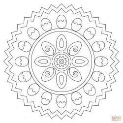 mandala coloring pages easter easter mandala with eggs coloring page free printable