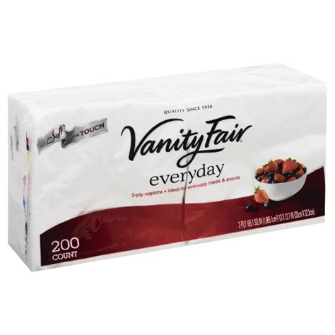 Vanity Fair Tablecloths by Vanity Fair Everyday Napkins 2 Ply 200ct Be Shopper