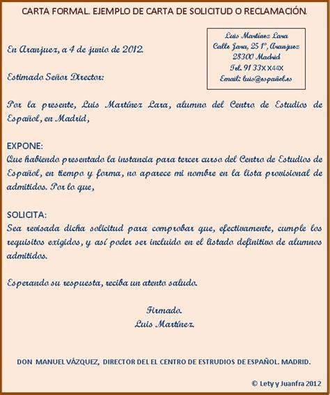 carta formal ejemplos ejemplos de cartas formales en ingles newhairstylesformen2014