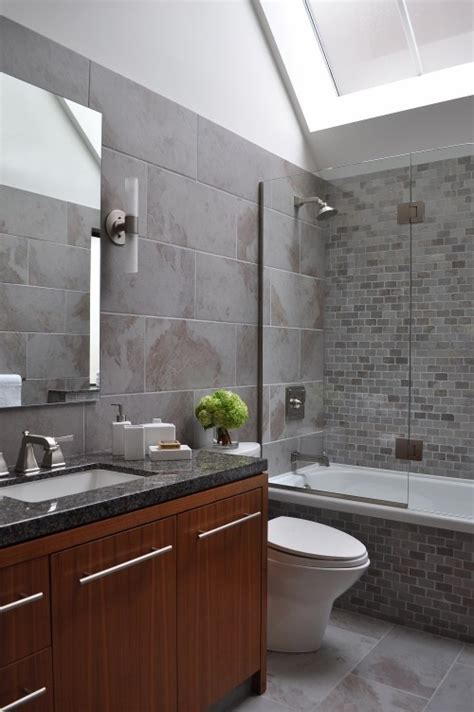 Modern Gray Tile Bathroom 40 Modern Gray Bathroom Tiles Ideas And Pictures