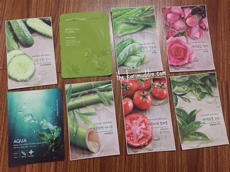 Harga Nature Republic Real Nature Mask Sheet review sheet mask part 1 innisfree dan nature republic